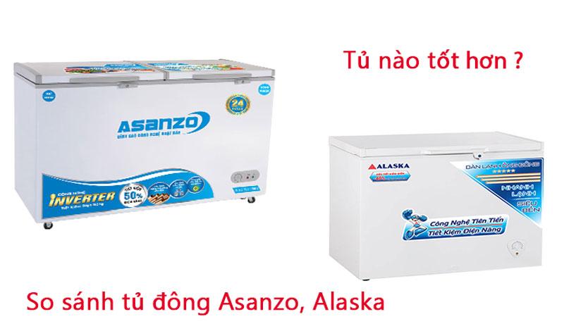 so sánh tủ đông asanzo