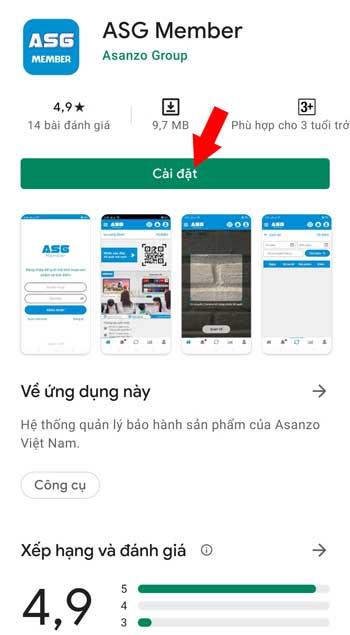 kích hoạt bảo hành app Asanzo