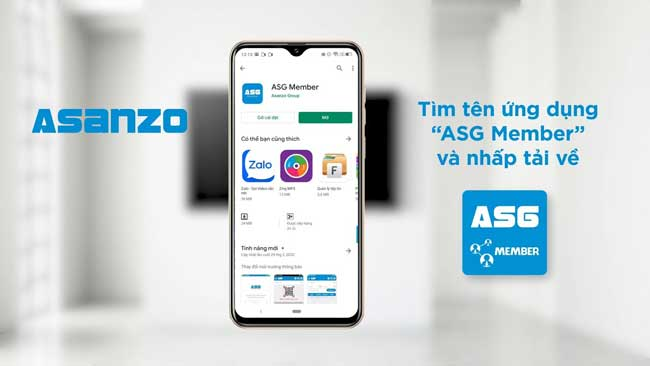 Kích hoạt app bảo hành Asanzo